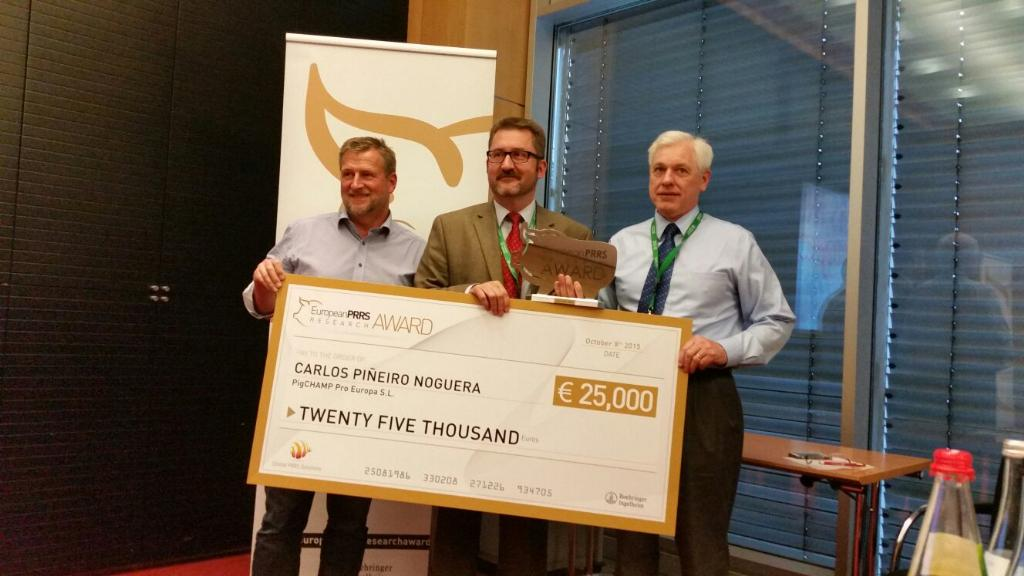 PigCHAMP wins one of the 2015 European PRRS Research Awards