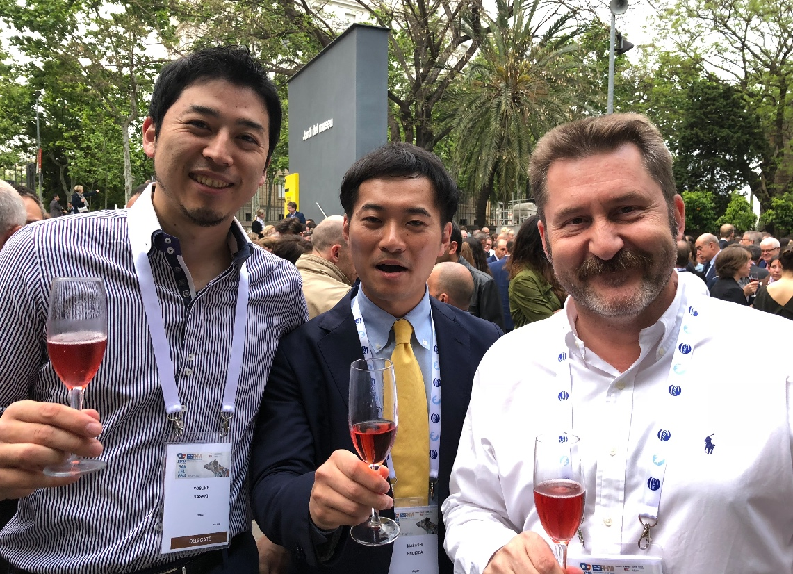 ESPHM. Carlos PIñeiro with japanese colleagues
