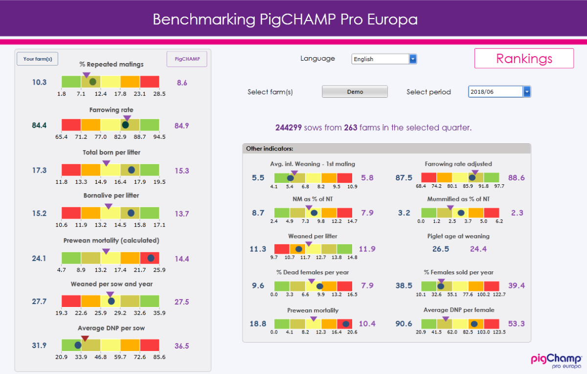 Demo benchmarking second quarter